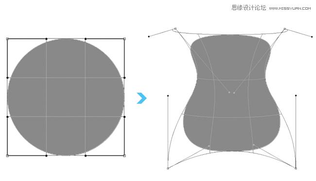 之后编辑效果.   2 .智能对象和路径的变形   photoshop cs