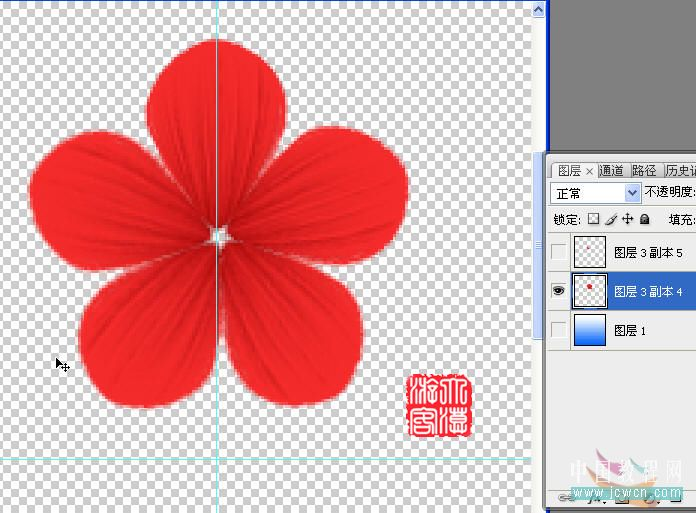 用画笔画出如图形状-PS鼠绘教程 梅花绘制,云峰轩瓷像网