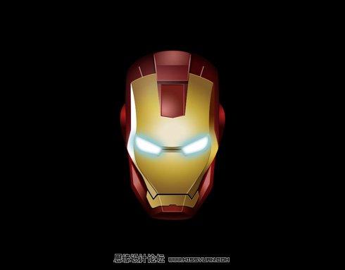 绘制个性逼真的钢铁侠头盔
