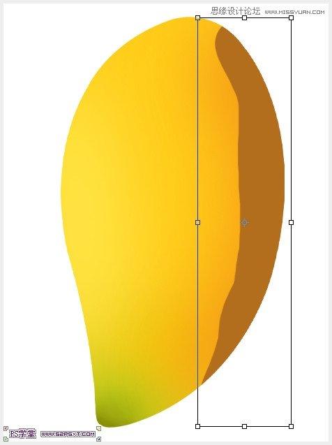 ffe84a画笔画一大部分,执行高斯模糊:50像素,调整好位置.   6、画