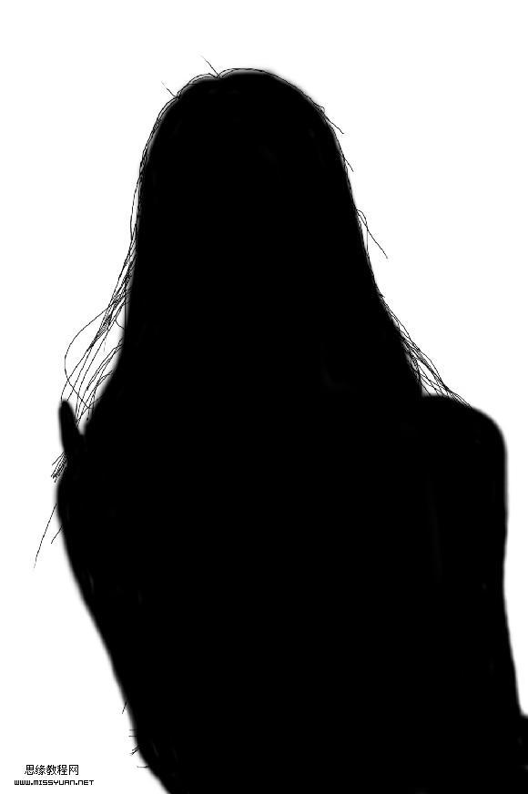 Photoshop在黑背景下抠头发教程,云峰轩瓷像网