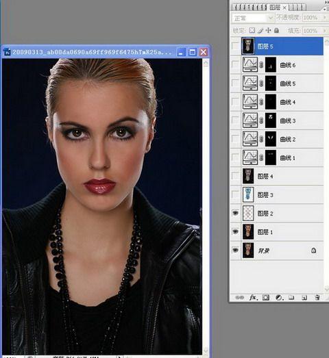 PS调出质感古铜色皮肤的美女头像照片 云峰轩写真瓷像照片技术学习