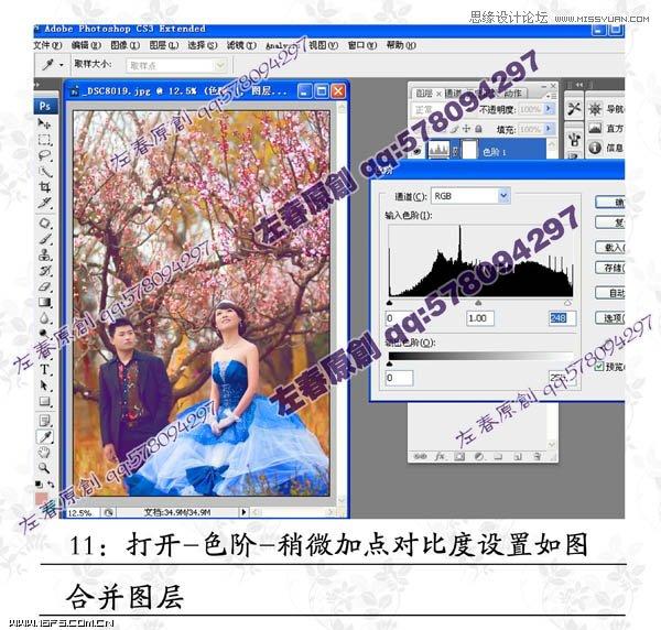 改为:20%,确定后合并所有图层 外景效果 照片处理 PS教程   7、进